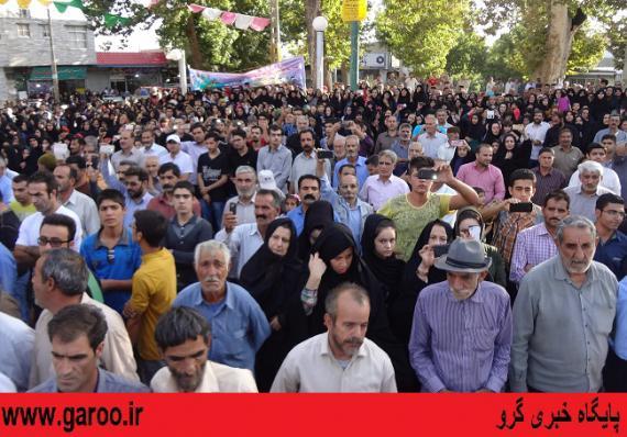 استقبال باشکوه مردم نهاوند از پرچم و خادمان حرم مطهر رضوی+ تصاویر