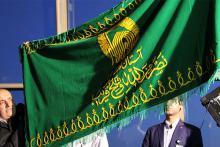 مردم نهاوند به استقبال خادمان و پرچم امام رضا (ع) میروند